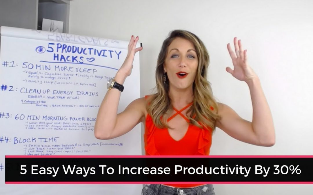 5 Easy Ways To Increase Your Productivity By 33% This Week
